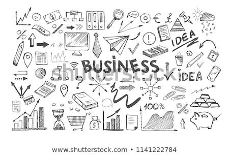 hand drawn investment on office chalkboard stock photo © tashatuvango