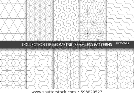 Absztrakt geometrikus minta gyűjtemény textúra háttér fehér Stock fotó © SArts