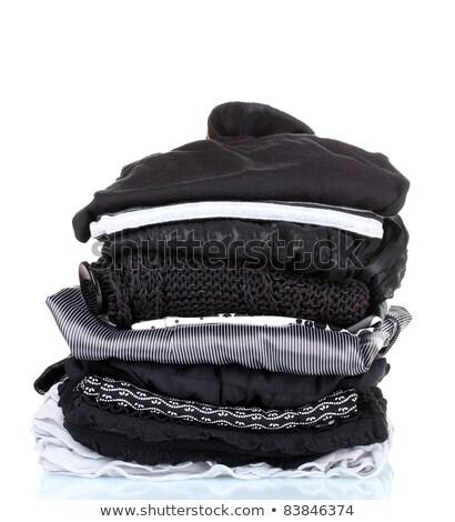 White laundry on black background Stock photo © Hofmeester