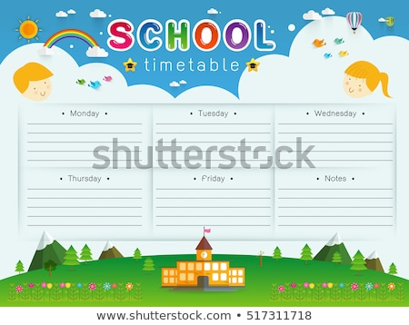 Times tables chart with happy children in background Stock photo © bluering