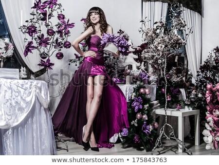 magnifico · bruna · trucco · ritratto · donna · colorato - foto d'archivio © lithian