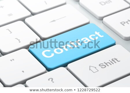 клавиатура синий ключевые марка развития 3d иллюстрации Сток-фото © tashatuvango