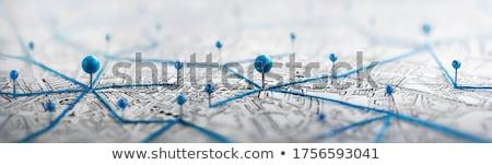 Mapa azul manera simple ilustración Foto stock © biv