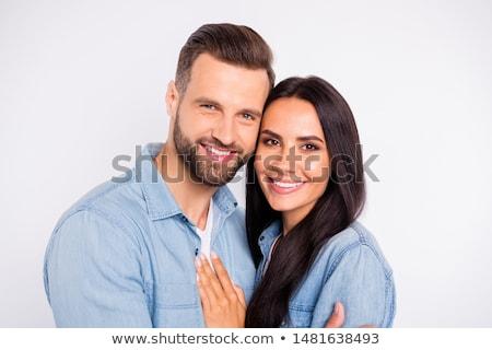 beautiful couple gently hugging Stock photo © tekso