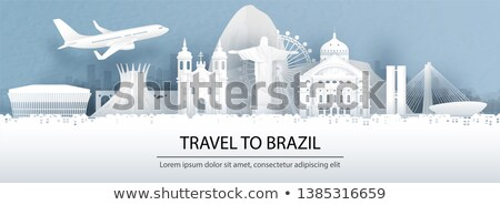 travel brazil paper cut world monuments stock photo © cienpies