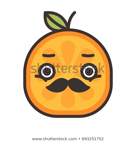 Emoji - gentleman orange smile with mustache and monocle. Isolated vector. Stock photo © RAStudio