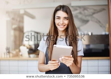 munkatárs · dolgozik · laptop · közelkép · üzletemberek · asztal - stock fotó © wavebreak_media