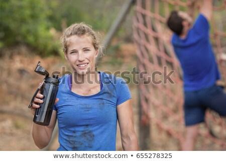 肖像 疲れ 女性 立って ブート キャンプ ストックフォト © wavebreak_media