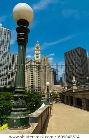 Chicago architettura fiume Illinois USA costruzione Foto d'archivio © benkrut