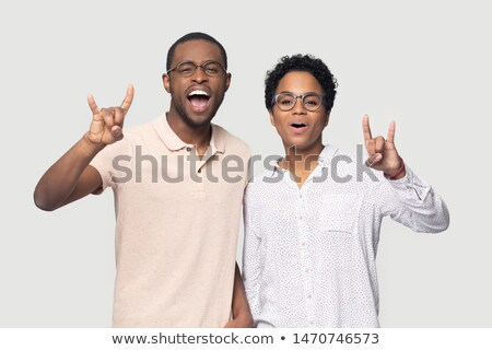 cool rock and roll couple posing Stock photo © feedough