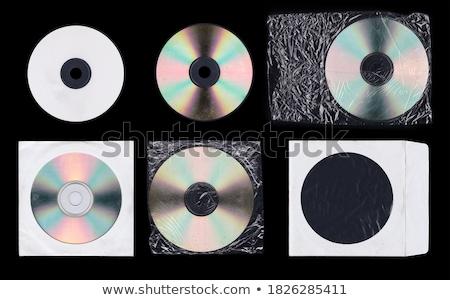 Cd kapak siyah şablon dizayn Stok fotoğraf © SArts