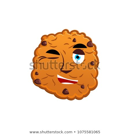 Cookies biscuit emotie gelukkig voedsel Stockfoto © popaukropa