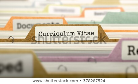 Folder in Catalog Marked as Curriculum Vitae. Stock photo © tashatuvango