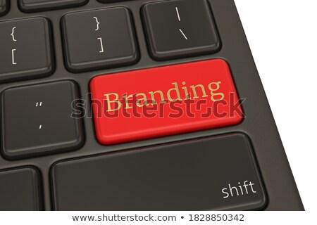 Stockfoto: Toetsenbord · Rood · sleutel · klant · 3d · illustration