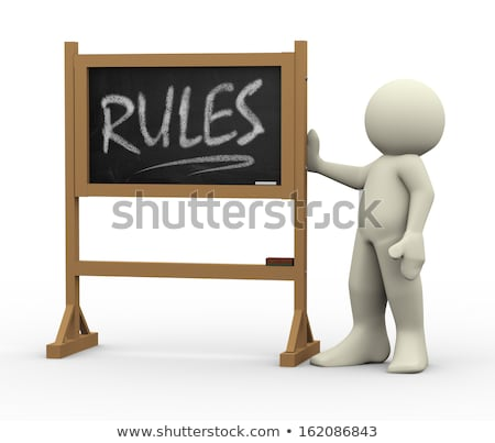 principles handwritten on black chalkboard 3d rendering stock photo © tashatuvango