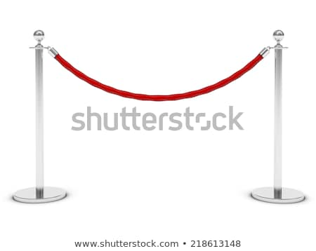 Barriers with red rope Stock photo © pakete