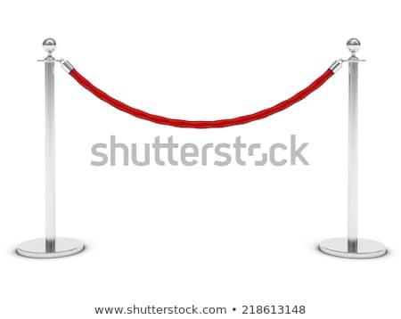 corde · tapis · rouge · événement · nuit · discothèque · protection - photo stock © pakete