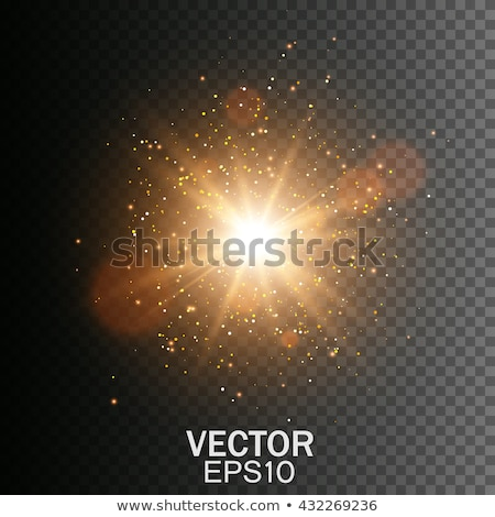 set of transparent golden light effect Stock photo © SArts