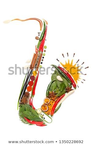 Fűszeres szaxofon színes szín dzsessz növény Stock fotó © Fisher