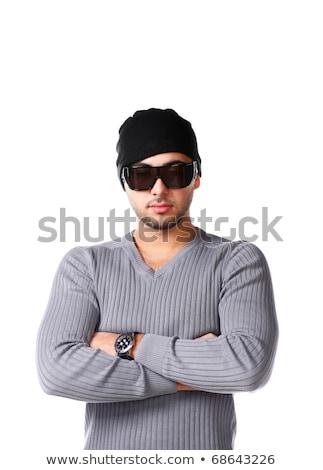 Szexi férfi nyár férfiak személy férfi Stock fotó © godfer