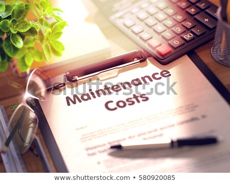 Clipboard with Maintenance Budget. 3D. Stock photo © tashatuvango