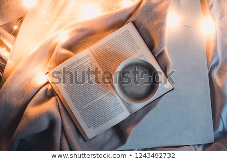 Stock photo: Book at night table