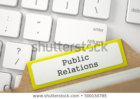 card file with inscription public relations 3d stock photo © tashatuvango
