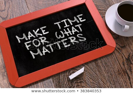 hand drawn improve productivity concept on small chalkboard stock photo © tashatuvango