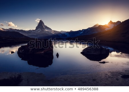 Stock photo: Great  panorama with famous peak Matterhorn. Location place Swis