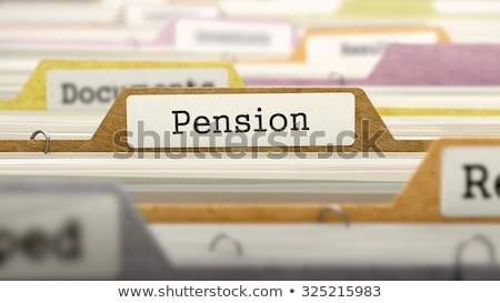 File Folder Labeled as Pension. Stock photo © tashatuvango