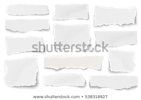 zwarte · gescheurd · papier · frame · retro · witte - stockfoto © barbaliss