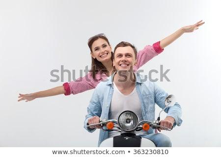 Foto stock: Motor · cara · sorridente · transporte