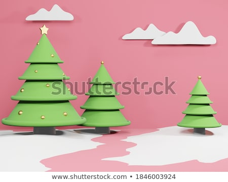 Winter snowflake on color background. 3D Stock photo © user_11870380