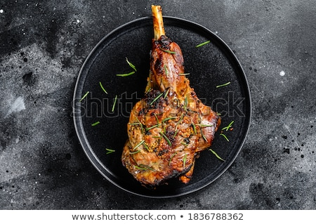 Kuzu bacak tahta Paskalya gıda Stok fotoğraf © M-studio