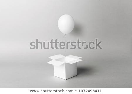 Сток-фото: Box And Balloons