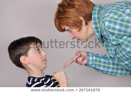 Gyerek fiú diák anya illusztráció kicsi Stock fotó © lenm