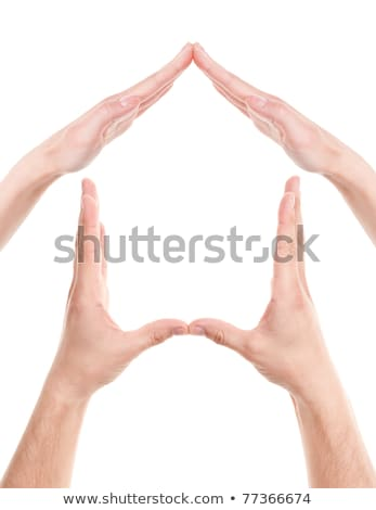 conceptual safety symbol made from hands stock photo © rufous
