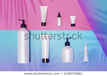 Realistic plastic cosmetic bottles mock up bundle Stock photo © frimufilms