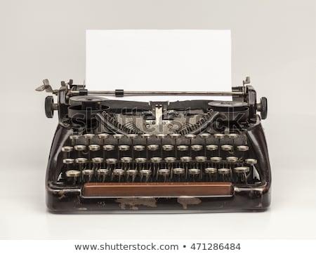 írógép üres papír ír Stock fotó © devon