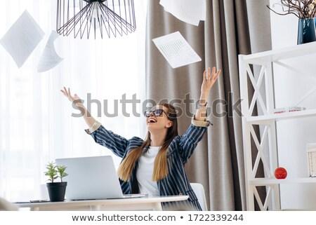 People toss up business woman Stock photo © alexanderandariadna