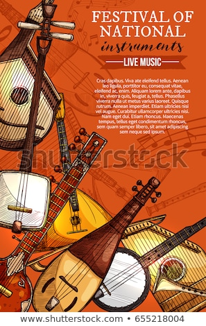 Balalaika Russian retro national traditional musical instrument. Stringed musical instrument Stock photo © orensila