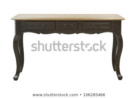 Részlet antik fiókok otthon bútor Stock fotó © monkey_business