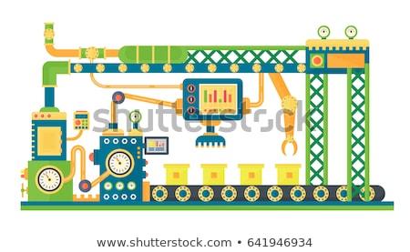 Attrezzi meccanismo vettore cartoon illustrazione isolato Foto d'archivio © RAStudio