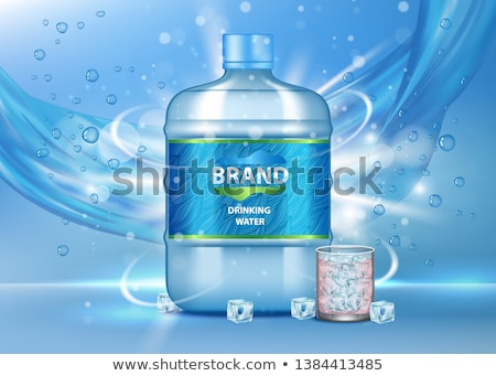 Big Bottle with Water Banner Vector Illustration Stock photo © robuart