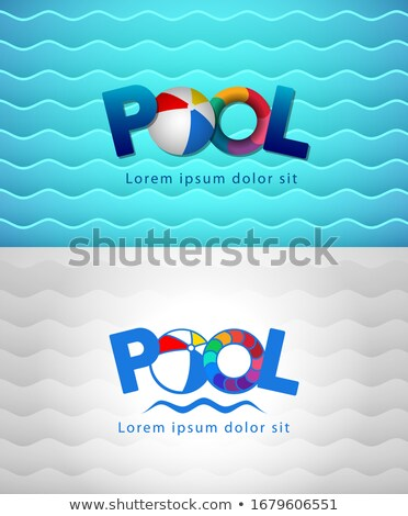 aquapark company business card template stock photo © studioworkstock