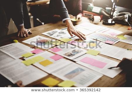 zwarte · documenten · professionele · iconen · website · presentatie - stockfoto © studioworkstock