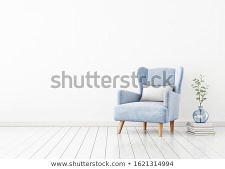 Stok fotoğraf: Koltuk · boş · duvar · beyaz · basit · oturma · odası
