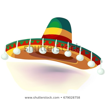 sombrero national mexican headdress vector illustration Stock photo © konturvid