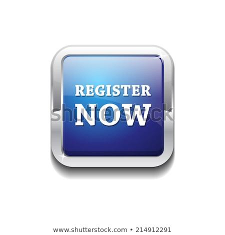 Register Now Round Vector Web Element Circular Button Icon Desig Stock photo © rizwanali3d