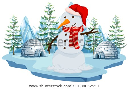 A Snowman in Norh Pole Stock photo © bluering